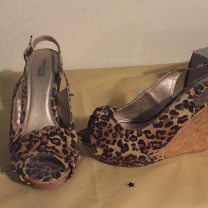 FINAL PRICE!!! Wedge cheetah sandals
